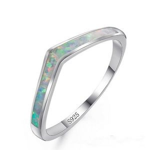 BRAND NEW .925 STERLING SILVER V WHITE FIRE OPAL